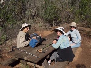 Bob, Anita, Louisa at campsite